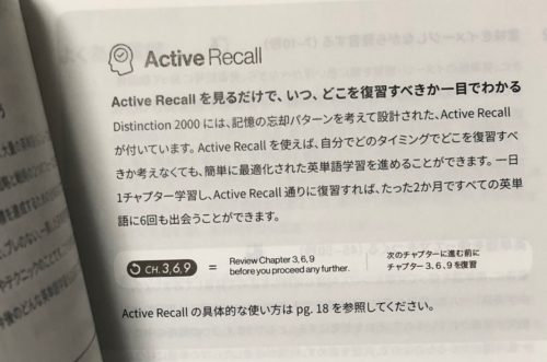 Distinction 2000 Active Recall