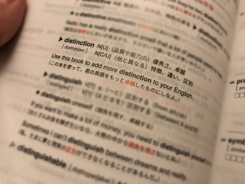Distinction 2000 レビュー 意味